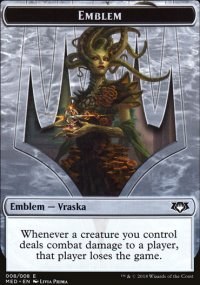 Emblem Vraska, Golgari Queen - Guilds of Ravnica - Mythic Edition