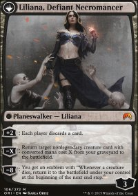 Liliana, Defiant Necromancer - Magic Origins
