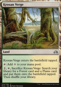 Krosan Verge - Planechase Anthology decks