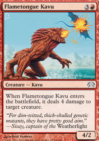 Flametongue Kavu - Planechase decks