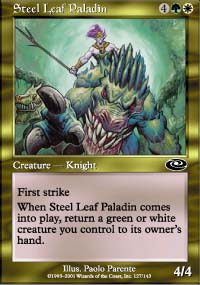 Steel Leaf Paladin - Planeshift