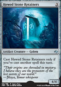 Hewed Stone Retainers - Promos diverses