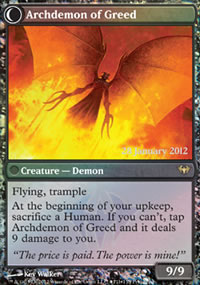Archdemon of Greed - Prerelease