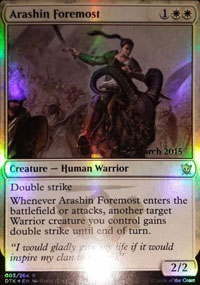 Arashin Foremost - Prerelease