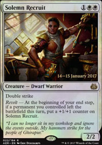 Solemn Recruit - Prerelease