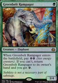 Greenbelt Rampager - Prerelease Promos