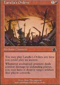 Latulla's Orders - Prophecy