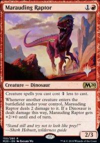 Marauding Raptor - Planeswalker symbol stamped promos