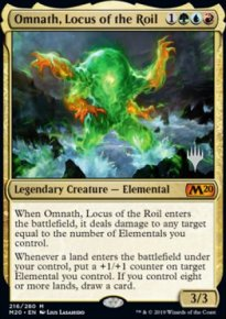 Omnath, Locus of the Roil - Planeswalker symbol stamped promos