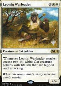 Leonin Warleader - Planeswalker symbol stamped promos