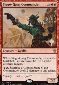 Siege-Gang Commander - Planeswalker symbol stamped promos