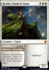 Realm-Cloaked Giant - Planeswalker symbol stamped promos