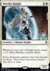 Worthy Knight - Planeswalker symbol stamped promos