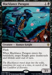 Blacklance Paragon - Planeswalker symbol stamped promos