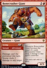 Bonecrusher Giant - Planeswalker symbol stamped promos