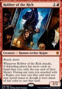 Robber of the Rich - Planeswalker symbol stamped promos