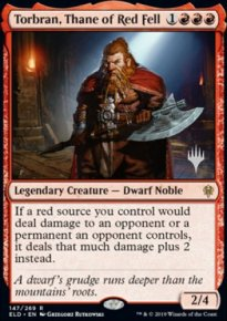Torbran, Thane of Red Fell - Planeswalker symbol stamped promos