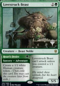 Lovestruck Beast - Planeswalker symbol stamped promos