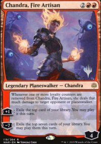 Chandra, Fire Artisan - Planeswalker symbol stamped promos