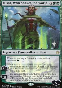 Nissa, Who Shakes the World - Planeswalker symbol stamped promos