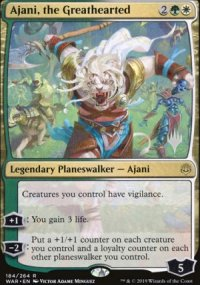 Ajani, the Greathearted - Planeswalker symbol stamped promos