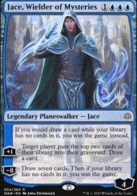 Jace, Wielder of Mysteries - Planeswalker symbol stamped promos