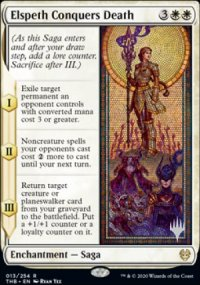 Elspeth Conquers Death - Planeswalker symbol stamped promos