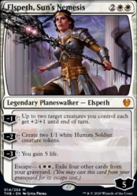 Elspeth, Sun's Nemesis - Planeswalker symbol stamped promos
