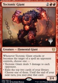 Tectonic Giant - Planeswalker symbol stamped promos