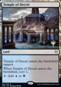Temple of Deceit - Planeswalker symbol stamped promos