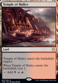 Temple of Malice - Planeswalker symbol stamped promos