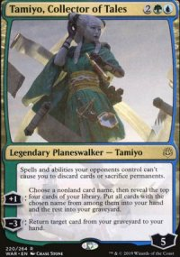 Tamiyo, Collector of Tales - Planeswalker symbol stamped promos