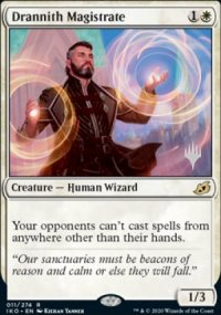 Drannith Magistrate - Planeswalker symbol stamped promos