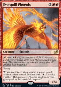 Everquill Phoenix - Planeswalker symbol stamped promos