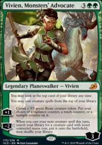 Vivien, Monsters' Advocate - Planeswalker symbol stamped promos