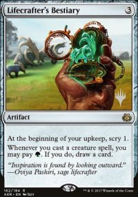 Lifecrafter's Bestiary - Planeswalker symbol stamped promos