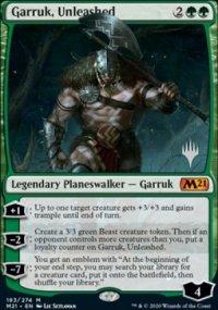 Garruk, Unleashed - Planeswalker symbol stamped promos