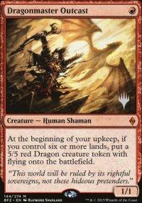 Dragonmaster Outcast - Planeswalker symbol stamped promos