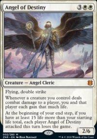 Angel of Destiny - Planeswalker symbol stamped promos