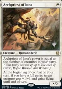 Archpriest of Iona - Planeswalker symbol stamped promos
