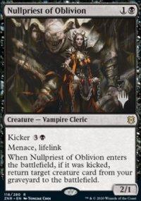 Nullpriest of Oblivion - Planeswalker symbol stamped promos