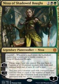 Nissa of Shadowed Boughs - Planeswalker symbol stamped promos