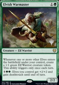 Elvish Warmaster - Planeswalker symbol stamped promos