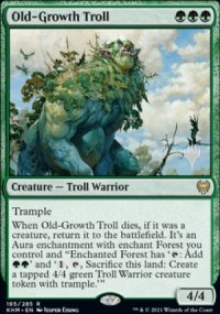 Old-Growth Troll - Planeswalker symbol stamped promos
