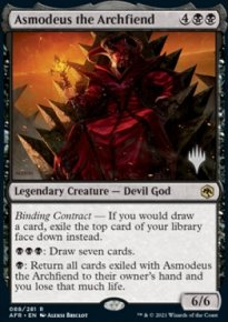 Asmodeus the Archfiend - Planeswalker symbol stamped promos