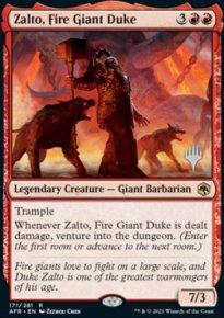 Zalto, Fire Giant Duke - Planeswalker symbol stamped promos