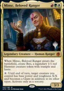 Minsc, Beloved Ranger - Planeswalker symbol stamped promos