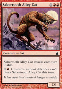 Sabertooth Alley Cat - Ravnica