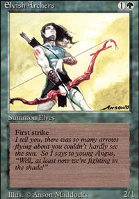 Elvish Archers - Revised Edition