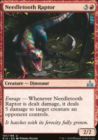 Needletooth Raptor - Rivals of Ixalan